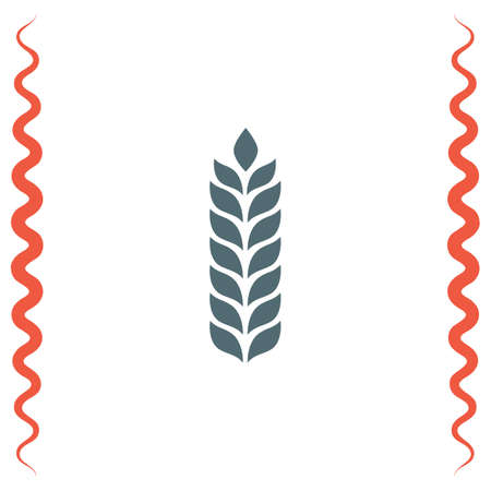whole grain: Wheat vector icon. Organic whole grain sign. Agriculture symbol Illustration