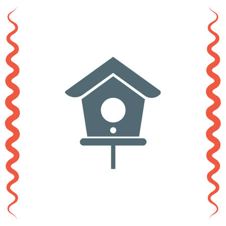 animal shelter: Bird House vector icon. Shelter symbol.