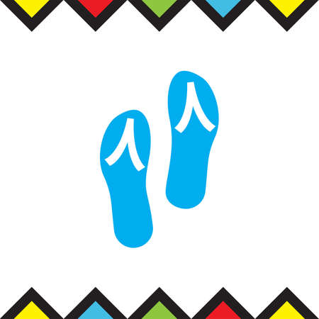 Flip flops vector icon. Beach shoes sign