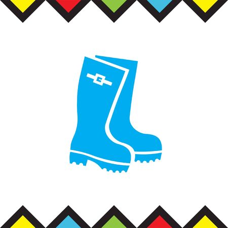 Rain boots vector icon. Rubber footwear sign. Gumboots symbol