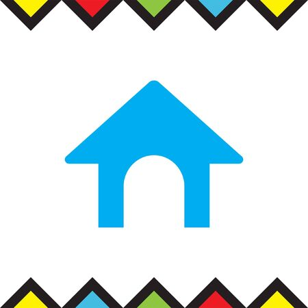doghouse: Dog House vector icon. Home sign.