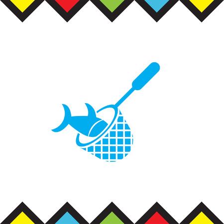 fishing net: Fishing Net vector icon. Fisherman equipment sign.