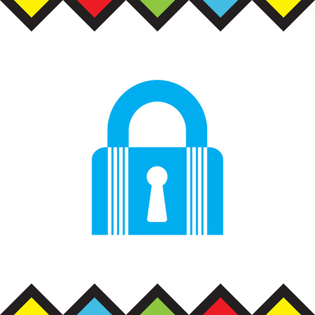 Lock closed state vector icon. Padlock sign. Security symbol