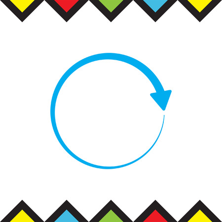 circulating: Circular arrow icon. Rotating pointer. Circulating direction shower.