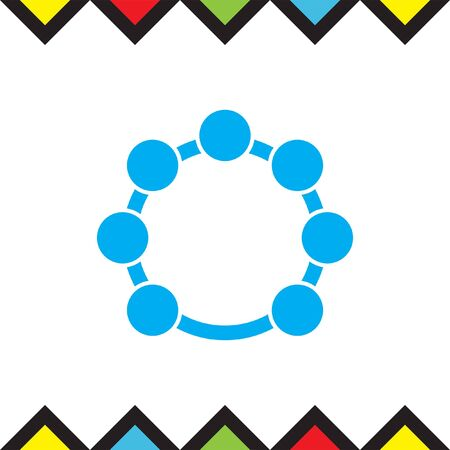 rhythm: Tambourine vector icon. Music instrument sign. Hand rhythm drum symbol