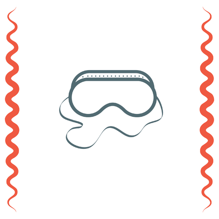 safety goggles: Safety work glasses vector icon. Construction eye protection sign. Protective mask symbol