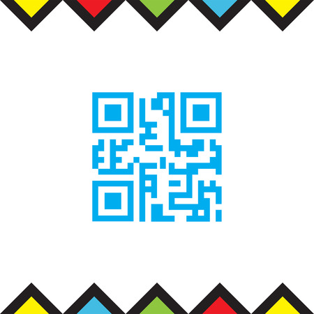 QR code vector icon. Qr code scanner sign. Computer business symbol