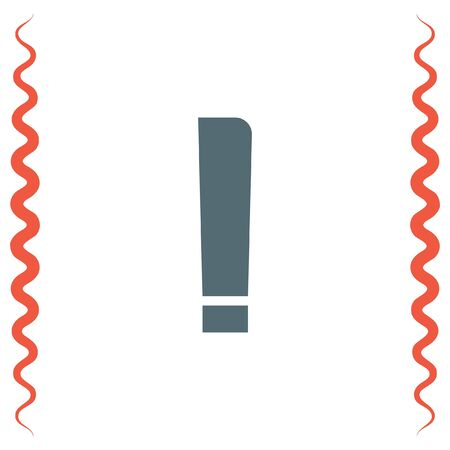 attention symbol: Exclamation Mark vector icon. Written sign. Attention symbol