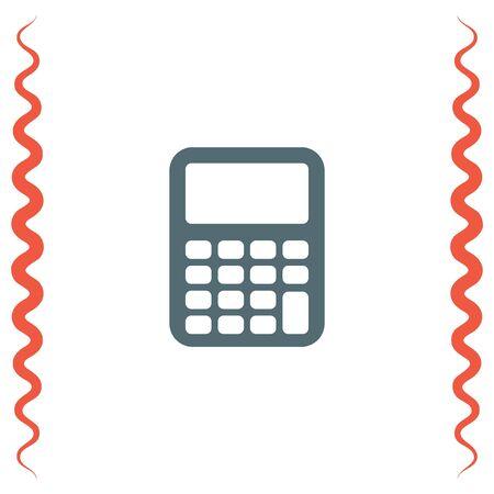 calculating: Calculator vector icon. Mathematics sign. Office finance calculating item symbol.