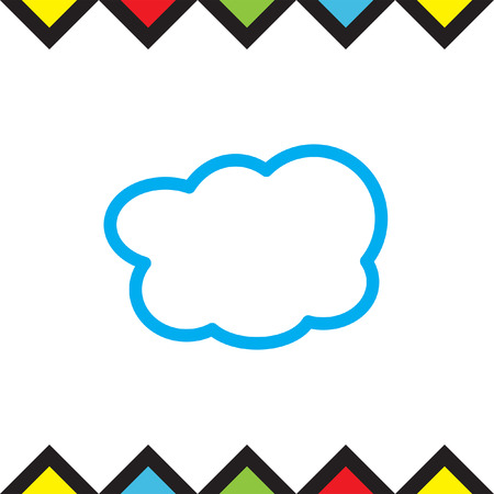 art processing: Cloud sign line vector icon. On line computing sign line icon. Cloud on line storage line icon. Illustration