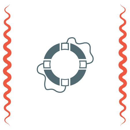 survive: Lifebuoy vector icon. Lifebelt sign. Safety floating belt symbol