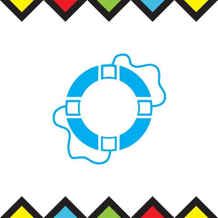 Lifebuoy vector icon. Lifebelt sign. Safety floating belt symbol