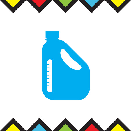Jerrycan Oil Can vector icon. Petrol container sign. Fuel can symbol Illustration