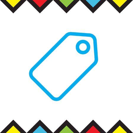 pricing: Label sign line vector icon. Tag vector icon. Price symbol