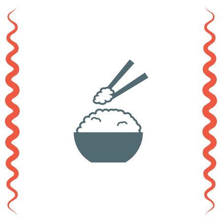 Rice vector icon. Ramen sign. Asian food symbol