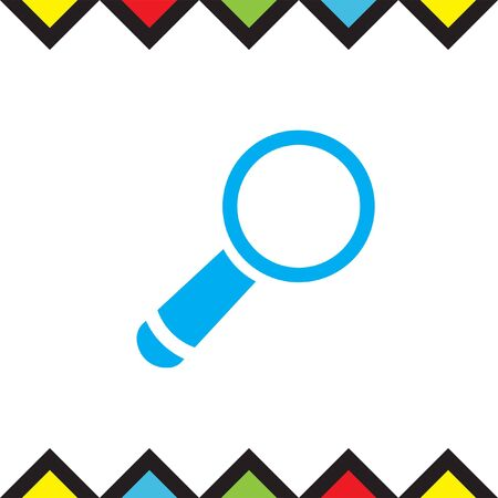 magnification: Magnifying glass vector icon. Search sign. Zoom symbol. Find pictograph Illustration