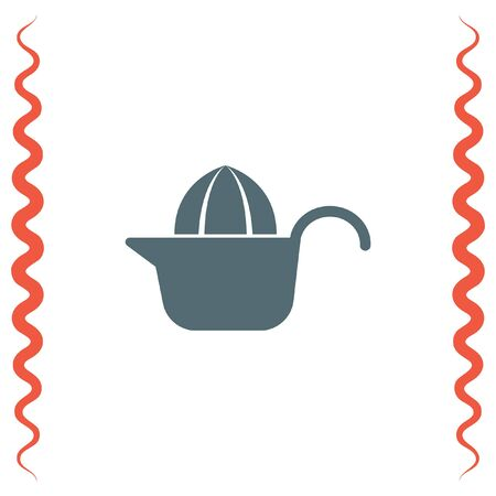 juice squeezer: Citrus squeezer vector icon. Fruit juicer sign. Household juice maker symbol.
