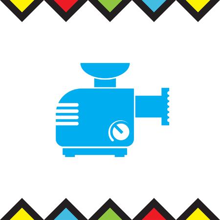 meat grinder: Meat grinder machine vector icon. Manual mincer sign. Butcher tool symbol