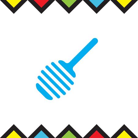 Honey spoon vector icon. Sweet treat sign Illustration