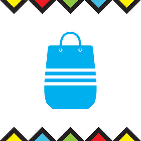 Shopping bag sign vector icon. Sale handbag sign. Illustration