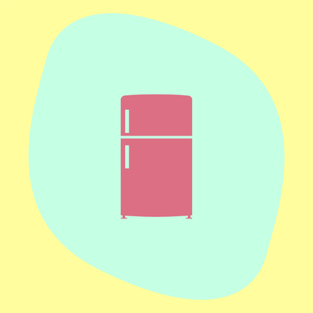 refrigerator kitchen: Refrigerator vector icon. Fridge sign. Kitchen refrigeration device symbol