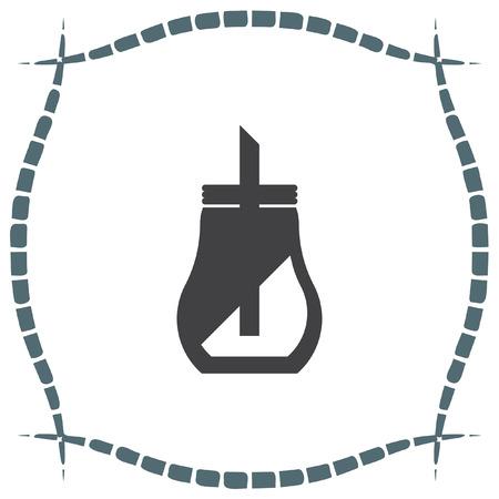 dispenser: Sugar dispenser vector icon. Coffee sign. Sweet container symbol
