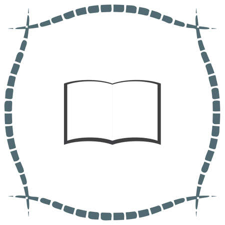publishes: Open book vector icon. Education symbol.
