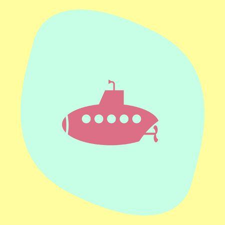 periscope: Submarine vector icon. Periscope sign. Water exploration symbol