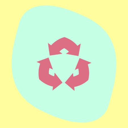 fl�che double: Double Fl�che vecteur ic�ne. Recycle sign Illustration