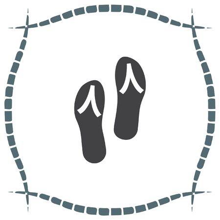 flip flops: Flip flops vector icon. Beach shoes sign