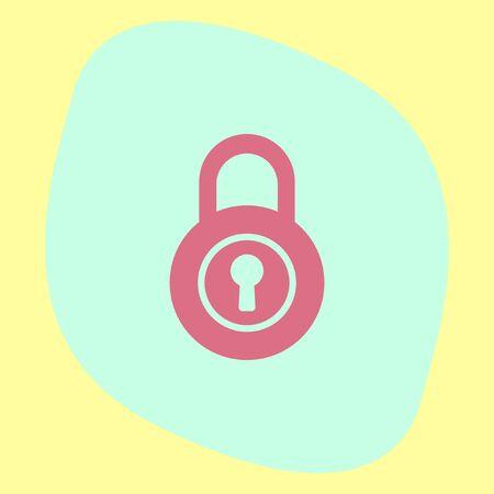 lock symbol: Lock vector icon. Padlock sign. Security symbol Illustration