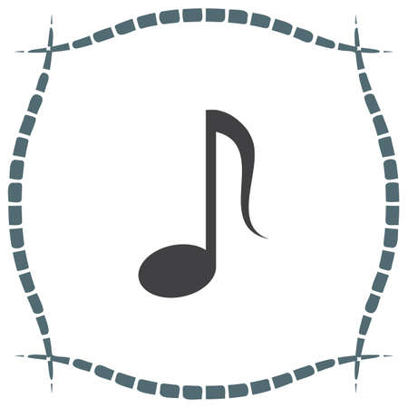 melody: Music note vector icon. Musical symbol. Melody sign