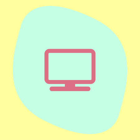 pc monitor: Computer Monitor icon. Pc display sign. Desktop screen symbol. Illustration