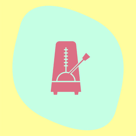 rhythm: Metronome vector icon. Rhythm machine sign. Tempo meter symbol Illustration
