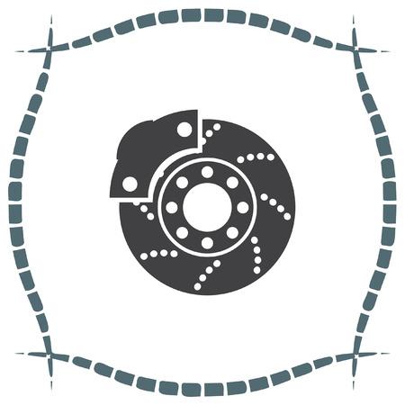 brakes: Car brakes vector icon. Vehicle repair service sign. Automobile part shop symbol. Illustration