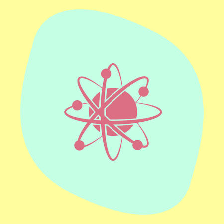 molecular biology: Atom model vector icon. Science symbol. Nuclear technology sign. Molecular biology sign. Illustration