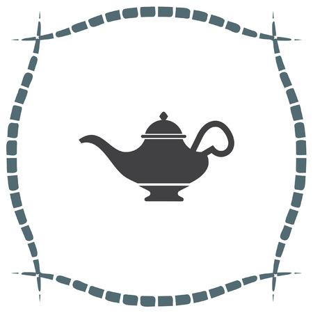 magic lamp: Magic lamp vector icon. Genie sign. Aladdin symbol