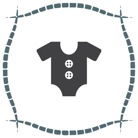 wear: Baby clothing vector icon. Baby clothes symbol. Kid wear sign.