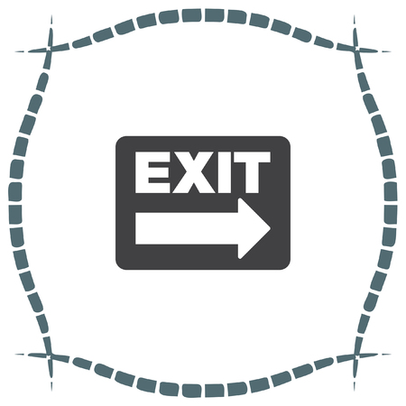 emergency exit label: Exit sign vector icon. Festival sign. Gate symbol Illustration