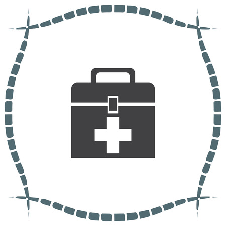 doctor symbol: First aid box vector icon. Medic box sign, Paramedic symbol