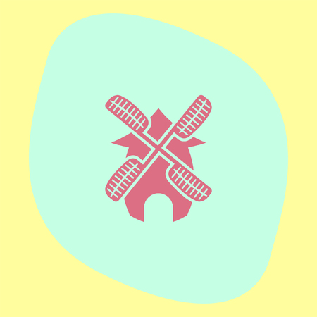 traditional windmill: Wind generator vector icon. Windmill sign. Electricity collection technology symbol Illustration
