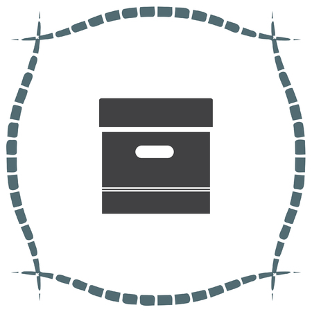 storage box: Archive box sign vector icon. Office symbol. Storage organization sign. Illustration