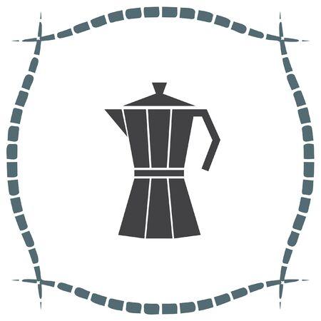 sign maker: Coffee Maker vector icon. Vacuum flask symbol. Espresso sign.