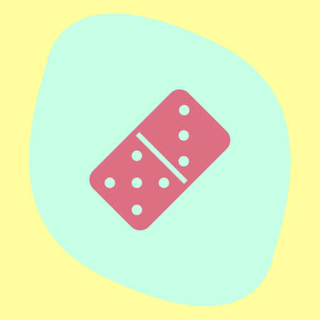 dominoes: Dominoes vector icon. Game sign. Social activity symbol