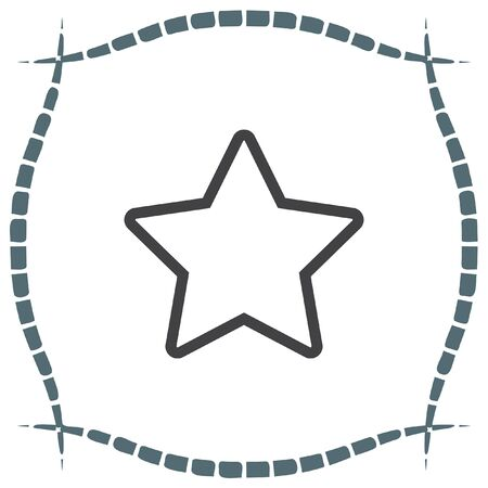 favorites: Star sign line vector icon. Add to favorites sign. Astronomy symbol. Bookmark icon.