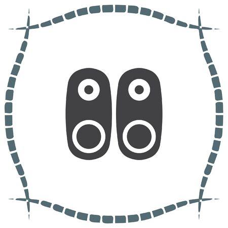 woofer: Audio Speakers vector icon. Audio sign. UI control Sound icon. Music symbol.