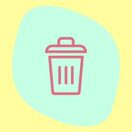 rubbish dump: Recycle bin vector icon. Basket sign. Garbage symbol Illustration