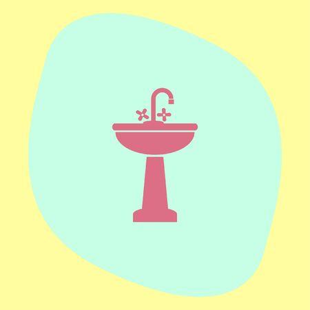 washbasin: Washbasin vector icon. Sink sign. Bathroom symbol