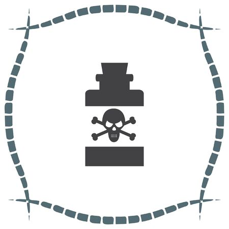 poison sign: Bottle with Poison vector icon. Warning sign. Toxic danger symbol. Illustration