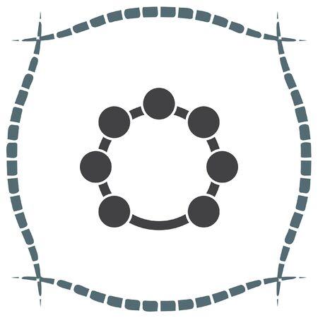pandero: icono del vector de pandereta. Muestra de la música instrumento. Símbolo de la mano del tambor del ritmo